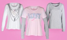 #$17.99 for #BreastCancerAwareness Tops (Up to $34 List Price). Multiple Styles and Colors Available. Free Shipping and Returns.