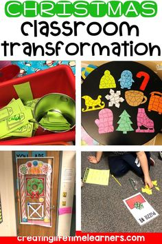 Check out this fun Christmas classroom transformation theme for elementary students in first, second, third, fourth, fifth grade. This Santa's workshop room transformation will set the stage to engage and is stress-free! It's a worksheet or escape room alternative, and can be used in small groups or partners. 1st, 2nd, 3rd, 4th, 5th graders enjoy classroom transformation ideas. Digital and printables for kids (Year 1,2,3,4,5) #setthestagetoengage #classroomtransformation #mathactivities