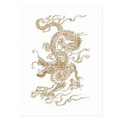 Golden Dragon Postcard Golden Dragon Tattoo, Dragon Tattoo For Women, Small Hand Tattoos, Hand Tattoos For Women, Bodhi Tree, Outline Art, Year Of The Dragon, Tattoo Flash Art, Hand Henna