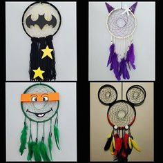 49 Ideas for disney art mickey etsy Cute Crafts, Creative Crafts, Diy And Crafts, Arts And Crafts, Dream Catcher For Kids, Dream Catcher Craft, Disney Diy, Disney Crafts, Crochet Dreamcatcher