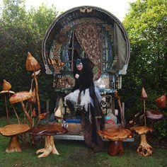 """Caravan Gypsy Vardo Wagon: A #Gypsy wagon ~ """"Monsta and Pete's Wagon,"""" by minnaloushe, at deviantART."""