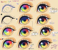 Step By Step - Rainbow eye tut + video by Saviroosje.deviantart.com on @deviantART
