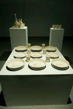 Ceramic and crochet exhibition from university