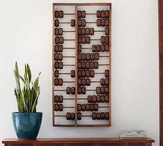 Oversized Abacus Wall Art #potterybarn