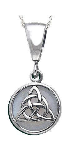 New 0.925 Sterling Silver Irish Celtic Trinity Knot Pendant Necklace * To view further for this item, visit the image link.