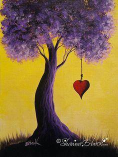 fine art print Modern Comtemporary bright purple by shawnaerback