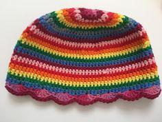 Rainbow mandala crochet hat by ruth