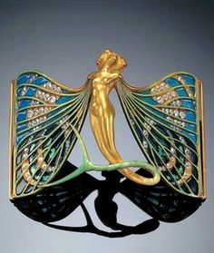 Lalique 1897-98, enamel/ gold/ diamonds/ Private Collection, NY