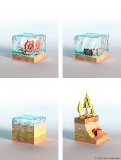 Power Giants - lowpoly paperworld by Mateusz Szulik, via Behance