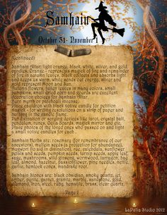 ✨Free Book of Shadows Pages from www.lapuliabookofshadows.com. Samhain-2012-2.jpg 1,700×2,200 pixels