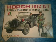 1970's Italaerei 1/35 Scale Horch KFZ 15 German Standard Personnel Car Model by MyHillbillyWays on Etsy