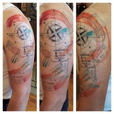 Passport stamps by Shauna McGillicutty at Grizzly Tattoo in Portland, OR - Imgur