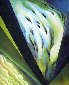 Georgia O'Keeffe - Blue and Green Music