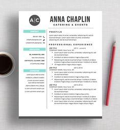 Resume Template  Cv Template  Cover Letter  Modern Resume