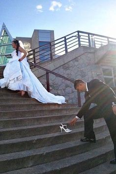 ► Recrea tu historia de amor en tus fotos, como esta toma inspirado en Cenicienta. #fotos #bodas: