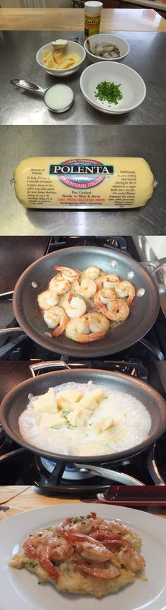 Pan Seared Shrimp with Polenta Recipe