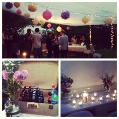 The Secret Garden... :D ... Nuvia - LOVE this idea! Secret Garden/outdoor party at dusk with candles & outdoor lighting!!