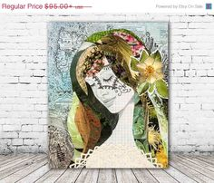 """Terra"" stretched canvas print by Jenndalyn Art #art #mixedmedia #collage #bohemian"