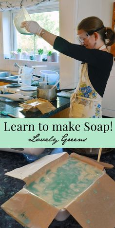 Soap making is a rewarding skill that's both creative and practical! Learn how to make your own handmade soap either online with this free set of instructions or book an in-person lesson with Lovely Greens on the Isle of Man. Soap Making Recipes, Homemade Soap Recipes, Homemade Cards, Savon Soap, Green Soap, Soap Making Supplies, Bath Fizzies, Bath Salts, Homemade Beauty Products