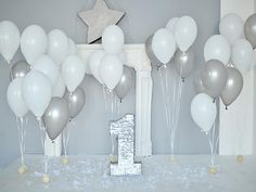 Kate 1st Birthday Sliver Wall Balloon Backdrop