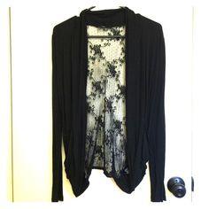 Selling this Black laced cardigan in my Poshmark closet! My username is: beautybyashly. #shopmycloset #poshmark #fashion #shopping #style #forsale #Papaya #Sweaters