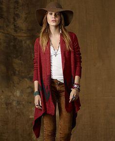 Denim & Supply Ralph Lauren Sweater, Long-Sleeve Southwestern-Pattern Cardigan - Womens Sweaters - Macy's