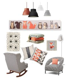 """""""."""" by tracy-boyer-perkins ❤ liked on Polyvore featuring interior, interiors, interior design, home, home decor, interior decorating, Safavieh, Kennebunk Home, Showroom Finland and Nursery Works"""