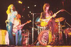 Tidlig på 1970-tallet var Led Zepplin verdens største rockeband. Fra venstre: Robert Plant, John Paul Jones, Jimmy Page og John Bonham (bak Page). (Foto: HANDOUT)