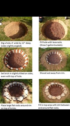 Simple backyard firepit