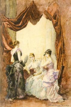 """Une loge a l'opera"", 1884, by Madeleine Jeanne Lemaire (French, 1845-1928)."