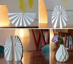 Origami-Inspired Vases - Industrial Designers Hadas Kruk and Anat Stein Create Lovely Time Fold Line (GALLERY)