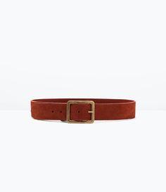 ZARA - Cinturón ancho de piel y hebilla cuadrada- 22'95 €