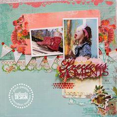 Precious Moments using Pink Paislee by Renata Moni
