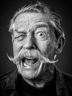 Epic John Hurt portrait by photographer Andy Gotts