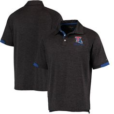Louisiana Tech Bulldogs Colosseum Spiral II Polo - Heather Black