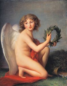 "Élisabeth Louise Vigée Le Brun (French, Paris 1755-1842). The Prince Henryk Lubomirski as Love of Glory, 1788. The Metropolitan Museum of Art, New York. Preussischer Kulturbesitz, Gemäldegalerie, Staatliche Museen zu Berlin (74.4) | This work is exhibited in the ""Vigée Le Brun: Woman Artist in Revolutionary France."" exhibition, on view through May 15, 2016. #VigeeLeBrun"