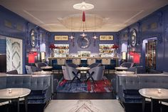 The legendary Blue Bar at The Berkeley in the heart of Knightsbridge has recently re-opened following a six-month refurbishment - with bespoke lighting by Dernier & Hamlyn...