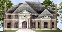 Florence Court House Plan Front Rendering