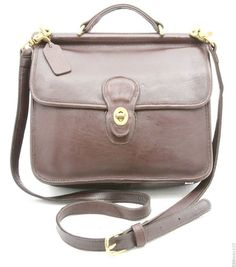 Coach Willis Bag Vintage Brown Leather Crossbody Purse Handbag Shoulder Usa Nice