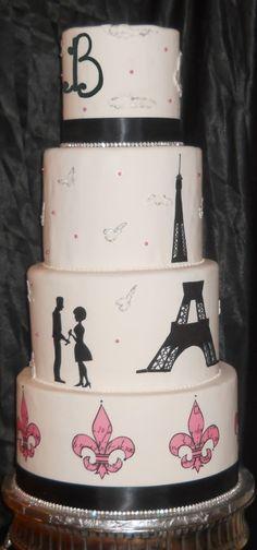 Baltimore Cakery: Fairytale Silhouette Paris (Baltimore's best wedding cakes)