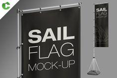 Sail Flag Mock-Up  by Colatudo Store on @creativemarket