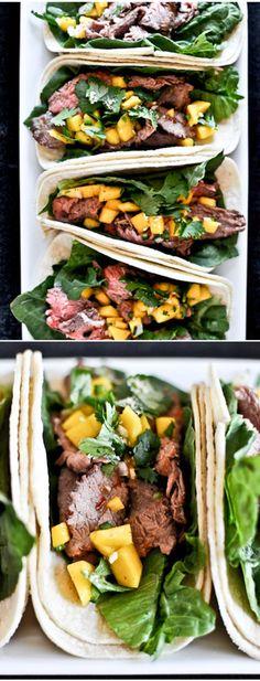 Healthy Thai Beef Tacos I howsweeteats.com