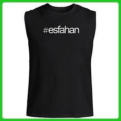 Idakoos - Hashtag Esfahan - Cities - Sleeveless T-Shirt - Cities countries flags shirts (*Amazon Partner-Link)