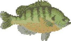 Fish, free cross stitch patterns and charts - www.free-cross-stitch.rucniprace.cz