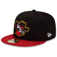 Quad Cities River Bandits Authentic Home Fitted Cap - Houston MiLB