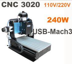 2014 nuevo CNC 3020 puerto USB mach 3 refrigeración por aire 200 w máquina de grabado talla trapezoidall tornillo de la máquina de corte(China (Mainland))