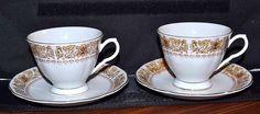 Vintage Tea Cup and Saucer-Yong Sheng Porcelain Co.-Liling, Hunan Province China