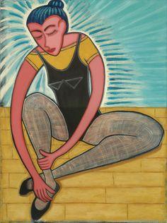 "Saatchi Online Artist Joyce Wynes; Painting, ""Dancer Afterglow"" #art"