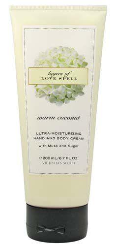 Victoria's Secret Garden Warm Coconut Layers of Love Spell Ultra Moisturizing Hand and Body Cream 6.7 fl oz