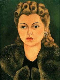 Portrait of Natasha Gelman, 1943 by Frida Kahlo. Naïve Art (Primitivism). portrait. Collection of  Jacques and Natasha Gelman Mexico City, Mexico